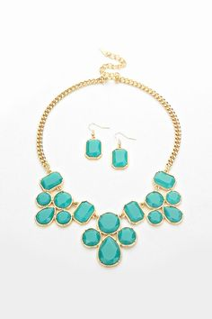 Mae Necklace in Teal