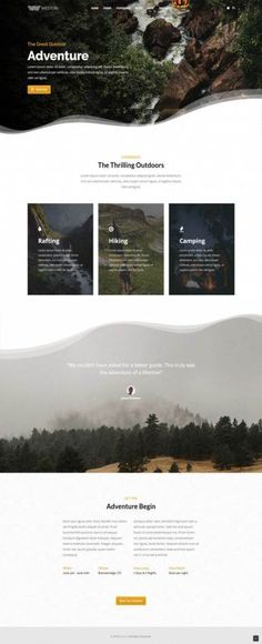 Weston – Do-it-all WordPress Theme Outdoor Adventure Business Booking Modern WordPress Theme. Inspiration for creative homepage layout web design. Ideas for landing pages. Minimal Web Design, Web Design Grid, Site Web Design, Web Design Trends, Web Design Tutorial, Web Design Websites, Web Design Quotes, Website Design Services, Web Design Company
