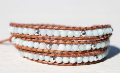 Da Costa Amazonite Triple Wrap Bracelet