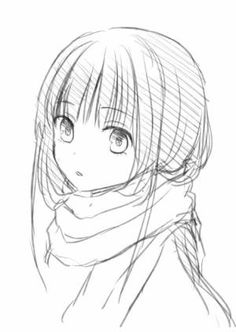 Let& collect pictures of Empera (with a scarf beaded hair) . - Let& collect pictures of Empera (with a scarf beaded hair) … – Uçan Ayşe – # Ayşe - Anime Drawings Sketches, Pencil Art Drawings, Anime Sketch, Manga Drawing, Manga Art, Cute Drawings, Manga Anime, Anime Art, Anime Angel