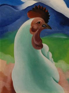 Georgia O'Keeffe: The China Cock, 1929, oil on canvas, 15.25 x 11.5 inches; private collecton © Georgia O'Keeffe Museum
