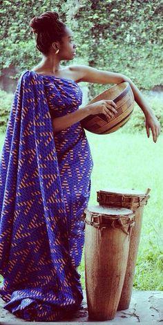 Royal African shoulder drape