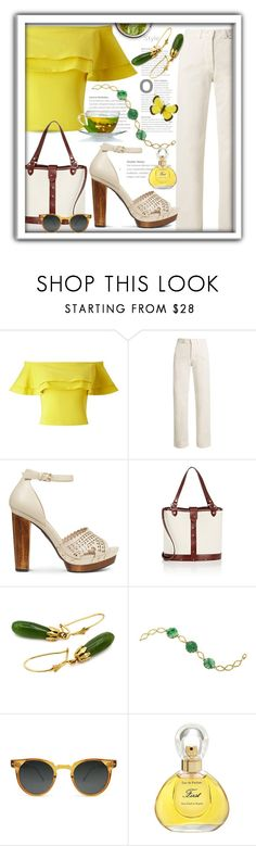 """""""Spring Frill"""" by queenofsienna ❤ liked on Polyvore featuring Miss Selfridge, Rachel Comey, The Row, Spitfire, Van Cleef & Arpels and Christina Debs"""