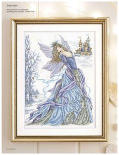 Cold As Ice Snow Fairy (Joan Elliott) From Cross Stitch Gold N°124 2015 1 of 6