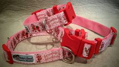 S, M & L - Helpful Hound Exclusive Design Collar Clips, Collar And Leash, Pet Collars, Purple And Black, Pink Purple, Pet Id, Strawberry Shortcake, Dog Accessories, Patience
