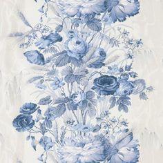 Blue And White Fabric, Blue Fabric, Delft, Illustration Rose, Molduras Vintage, Art Chinois, Art Japonais, Rose Cottage, Love Blue