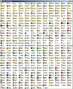 Emoticons For Facebook And Skype