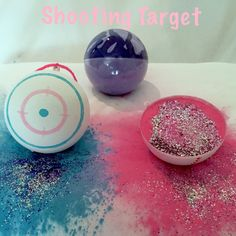 What is included: 2 Softball Size Targets (Select color combination) and a Clear Practice Ball filled with Both Pink and Blue Powder. . Each ball is hand made at our house specific for your order.   We fill our balls to the brim with powder to ensure the brightest most colorful cloud to reveal your