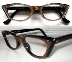 e2b9c49e06b RESERVED for 2311Sunny Vintage 50 s Copper Square Cat Eye Frames France