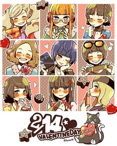 Happy Valentine's Day to the best girls : Persona5