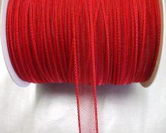 66450H-R   CRIN RIBBON 15 MM. RED