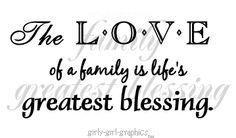 family. =)