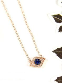 Protection Necklace Evil Eye necklace Cubic by ColorMeMissy