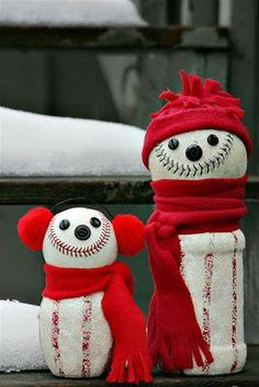 baseball snowman! These are cute