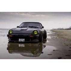 That's bae on the beach.. #houston #datsun #nissan #280zx #agwheels #accuair #fml #salt #rust #nofucksgivenbruh #1979 #bagged Shot by @giselleyeung
