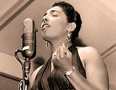 Carmen McRae, jazz singer, composer, pianist, and actress. Considered one of the most influential jazz vocalists of the 20th century, it was her behind-the-beat phrasing and her ironic interpretations of song lyrics that made her memorable. McRae drew inspiration from Billie Holiday, but established her own distinctive voice.