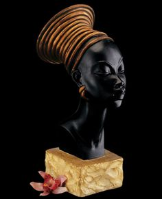 """Nubian Queen Kandake Candace Sculpture Bust. Kandake or Kentake, also known as Candace, was the title for queens and queen mothers of the ancient African empire of Kush (also known as Nubia). The name Candace and its variants derive from the title Kandake. In the New Testament of the Christian Bible, a treasury official of """"Candace, queen of the Ethiopians"""" returning from a trip to Jerusalem was baptised by Philip."""