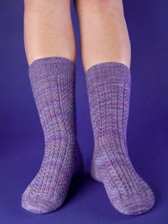 Thermal Socks Pattern on KnitPicks -- waffle weave pattern is to keep them warm.