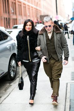 #nick #wooster #nickwooster #nyfw #men #mens #fashion #style #army #jacket #fur #glasses #boots