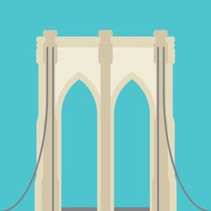 Cities - New York: Brooklyn Bridge illustration by cans.