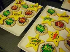 Superhero theme cookies