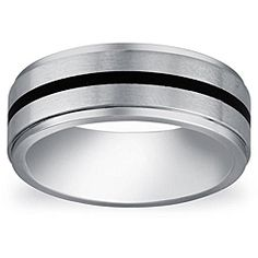 @Overstock - Round-cut white diamond men's bandCobalt jewelryClick here for ring sizing guidehttp://www.overstock.com/Jewelry-Watches/Cobalt-Mens-Black-Enamel-Accent-Comfort-Fit-Band/5762572/product.html?CID=214117 $49.99