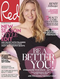 Renee Zellweger Talks Fame & Beyonce with 'Red': Photo Renee Zellweger takes the cover of Red magazine's October 2016 issue, on newsstands Tuesday (September Here's what the Bridget Jones's Baby star had to… Matcha Face Mask, Tapas, Bridget Jones Baby, Uk Magazines, Fashion Magazines, Beauty Games, Female Friendship, Oil News, Renee Zellweger