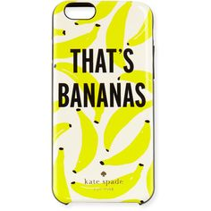 kate spade new york that's bananas iphone 6/6s case ($42) ❤ liked on Polyvore featuring accessories, tech accessories, cream multi and kate spade
