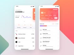 Apps Monzo mobile bank app concept dashboard finance fiat credit card card atm wallet app charts chart app fintech financial app mobile monzo you can . Ux Design, Ios App Design, Mobile App Design, Chart Design, Chico California, Credit Card App, Credit Cards, Credit Card Design, Card Ui