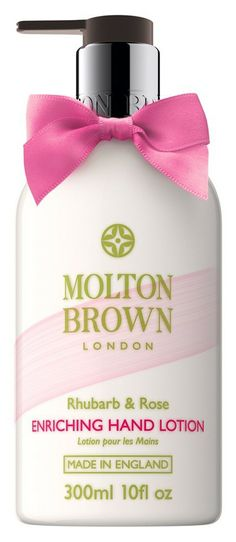 """Molton Brown Rhubarb Rose Enriching Hand Lotion """"This hand lotion has rhubarb extract and moisturizing rose oil to instantly hydrate and leave behind a delicious scent. Autogenic Training, Molton Brown, Perfume, Rose Oil, Hand Care, Hand Lotion, All Things Beauty, Beauty Stuff, Beauty Shop"""