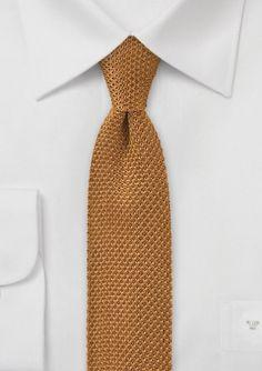 Golden Mustard Colored Knitted Necktie $18.90