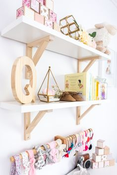 Major nursery shelf styling goals! And, that headband collection? Swoon!