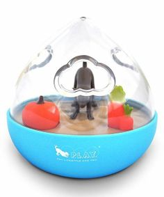 Take a look at the P.L.A.Y. Blue Wobble Ball Enrichment Pet Toy on #zulily today!