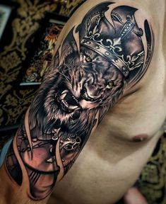 awesome lion tattoo ideas © tattoo by boby_tattoo ❤🐵❤🐵❤🐵❤🐵. - awesome lion tattoo ideas © tattoo by boby_tattoo ❤🐵❤🐵❤🐵❤🐵❤🐵❤ - Lion Forearm Tattoos, Lion Head Tattoos, Forarm Tattoos, Mens Lion Tattoo, Tattoos Arm Mann, Arm Tattoos For Guys, Tattoo Girls, Body Art Tattoos, Lion Tattoos For Men