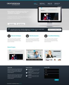 Creativedesign - PSD Template by CodeGrape , via Behance
