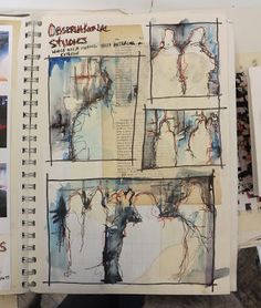 Sketchbook pages - Aileen Wright