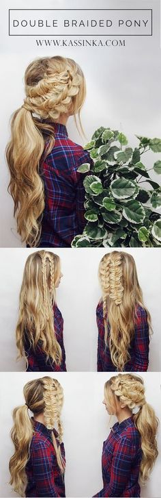 Double Braided Ponytail Hair Tutorial