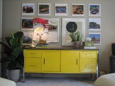 yellow credenza