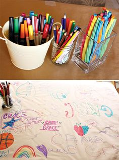 {Rainbow Camp} Arts & Crafts Birthday Party