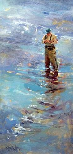"""Changing Flies"" - Original Fine Art for Sale - © Mary Maxam"
