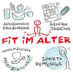 Vektor: Fit im Alter_keywords_cloud_health and fitness