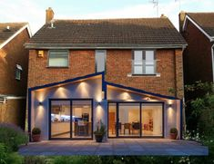 flat roof and pitched roof extension House Extension Plans, Extension Designs, Glass Extension, House Extension Design, Roof Extension, Extension Ideas, Extension Google, Bungalow Extensions, House Extensions