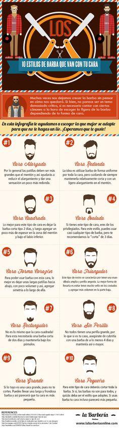 10 estilos de bárba que van con tu cara – InfografiaInfografia - Las mejores infografias de Internet | Infografia - Las mejores infografias de Internet