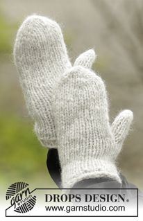 Ravelry: Winter Cozy Mittens pattern by DROPS design Knitted Headband Free Pattern, Knitted Mittens Pattern, Crochet Mittens, Fingerless Mittens, Knitted Gloves, Knitting Patterns Free, Free Knitting, Knitting Basics, How To Start Knitting