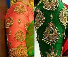 40 Latest Maggam Work Blouse Designs for : Images & Catalogue Stone Work Blouse, Hand Work Blouse Design, Fancy Blouse Designs, Bridal Blouse Designs, Cut Work Blouse, Cutwork Blouse Designs, Zardosi Work Blouse, Saree Blouse, Blouse Neck