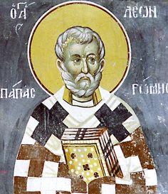 cristiani ortodossi IL SINASSARIO : elogio iconografico del nostro Padre tra i Santi Leone I papa di Roma Antica il Grande…