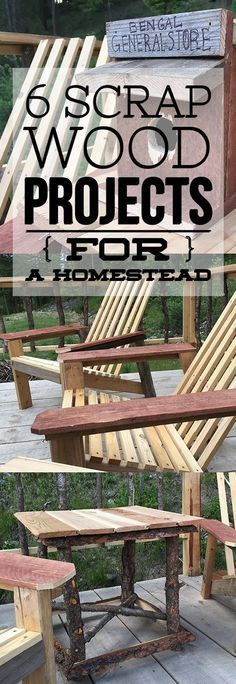 How creative and totally doable! Scrap wood projects for the homestead with stuff you already have laying around!