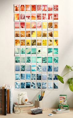 Some Green & Blue  Instax Photo's by Kimberley Dhollander Lovely sorted colors! #DecoreerMetFotos