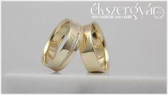 Yellow gold wedding rings. (14-carat) Sárga-arany jegygyűrűk.