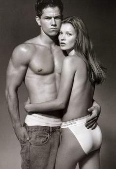 There's nothing more classic than a pair of Calvin's. // Kate Moss in 1992 Calvin Klein Ad.